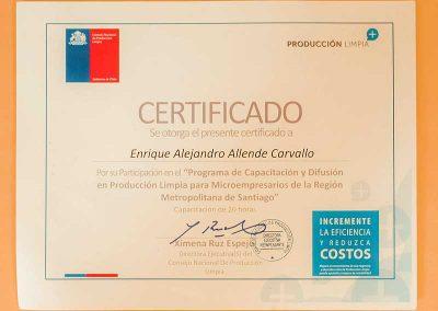 Certificado Enrique Allendes